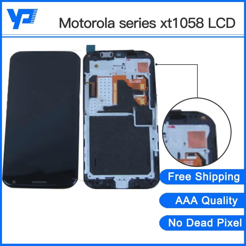 ФОТО Original new For Motorola X XT1058 XT1060 XT1056 XT1053 LCD Touch Screen Digitizer Display With Frame Full Assembly Black White