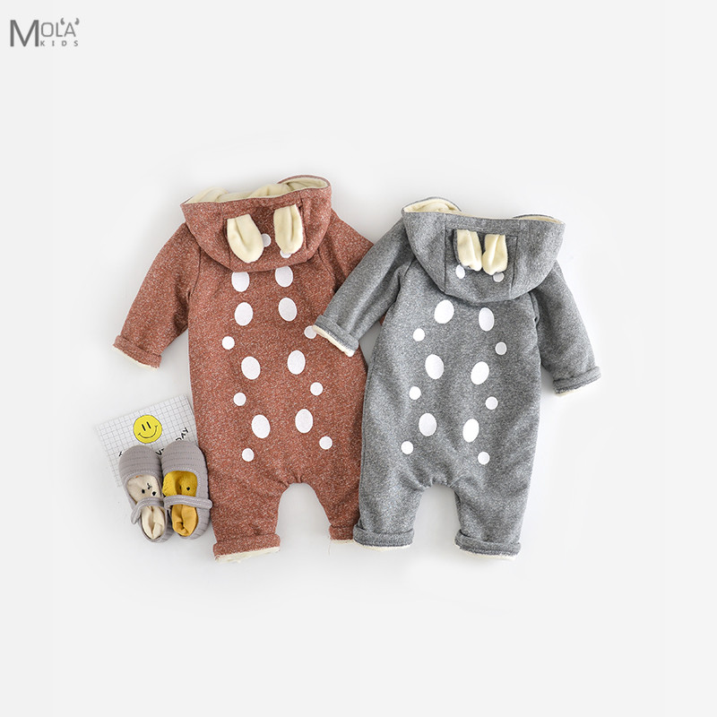 Bebes KIKIKIDS New Born baby Clothes New Baby Rompers Winter Fleece Romper Infant Boy Girl Clothes Toddler Outfit BeBe Jumpsuit free shipping children outerwear baby girl clothes baby born costume fleece topolino cute toddler girl clothes cheap baby cloth