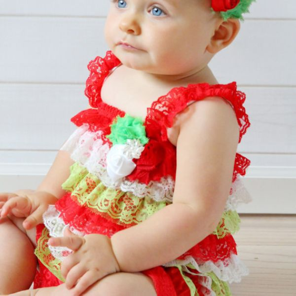 christmas petti lace romperbubble romperbaby girl christmas outfit toddlers rompercandy cane christmas baby romper in rompers from mother kids on