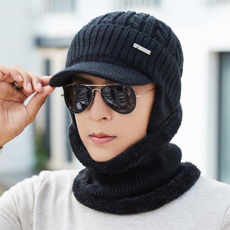 oZyc Skullies Beanies Men Knitted Hat Scarf Winter Hats For Women Male Caps Gorras Bonnet Mask Warm Sport Cheap Beanie Hats