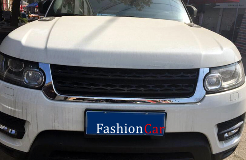 For Land Rover Range Rover Sport 2014 2015 2016 ABS Front center grille grill trim cover 1pcs chromed abs plastic front grill grille center cover trim car styling fit for chevrolet trax 2014