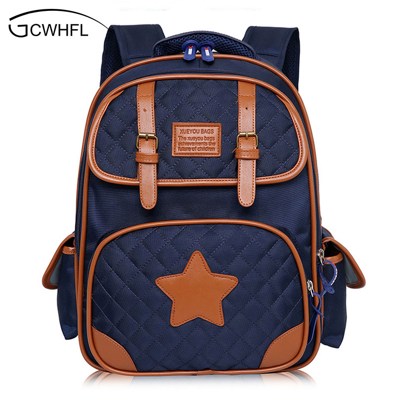Retro Fashion Orthopedic Children Backpack Boys School Bags For Girls Schoolbag Shoulder Bag Mochila Teenagers Kids Satchel Gift boys girls backpack top quality baby shoulder bag unisex kids dinosaur pattern animals toddler school bag gift mochila 17aug8
