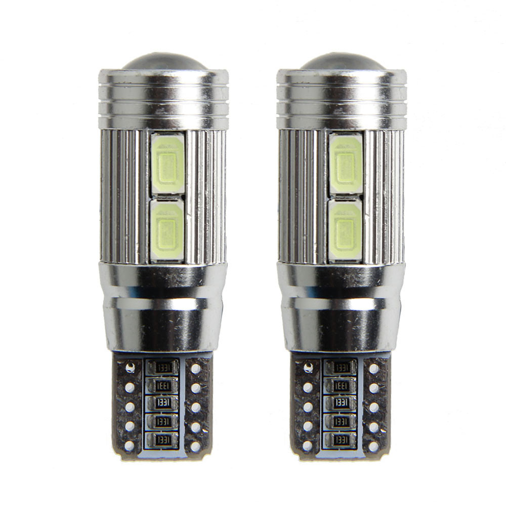 4 X T10 Canbus 194 168 t10 W5W 5630 5730 10 SMD Can-bus Error Free 10 Led External Lights White 6000K Canbus 300LM cyan soil bay 1x canbus error free white t10 5630 6 smd wedge led light door dome bulb w5w 194 168 921 interior lamp