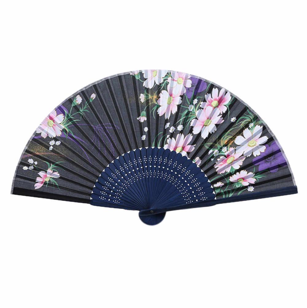 1 шт. новый китайский складной бамбуковый деревянный резной веер подходит для свадебной вечеринки подарок японский Вишневый бамбук вентилятор и ветер Складной вентилятор