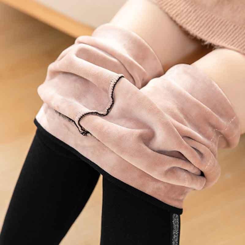 NORMOV 2019 Sexy Womens Leggings Cotton Velvet Autumn Winter Side Stripes Warm Thick Leggings High Waist Solid Skinny Leggings