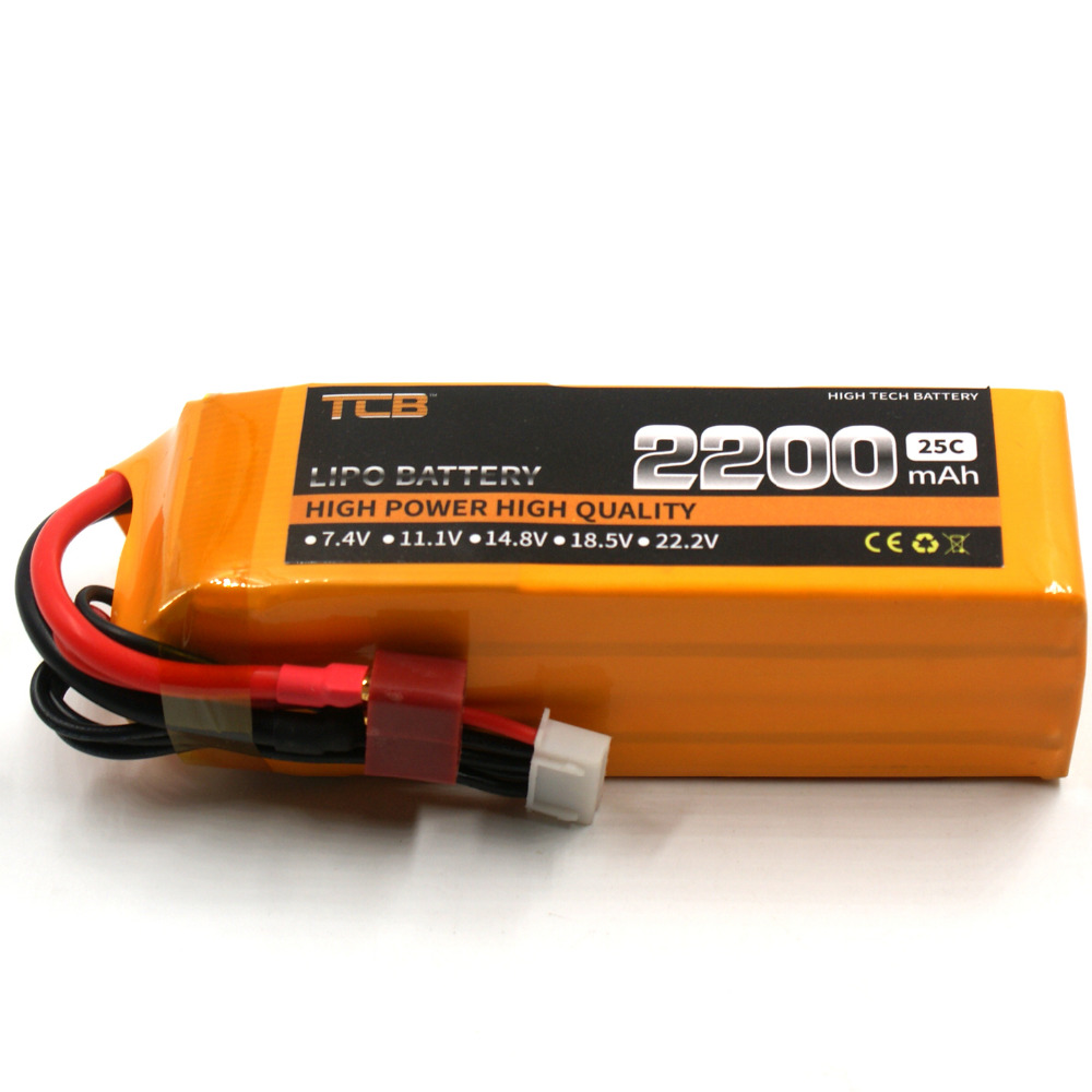 TCB RC lipo battery 14.8v 2200mAh 25C 4s FOR RC Airplane Drone Quadrotor Batteria Helicopter High discharge cell 3pcs battery and european regulation charger with 1 cable 3 line for mjx b3 helicopter 7 4v 1800mah 25c aircraft parts