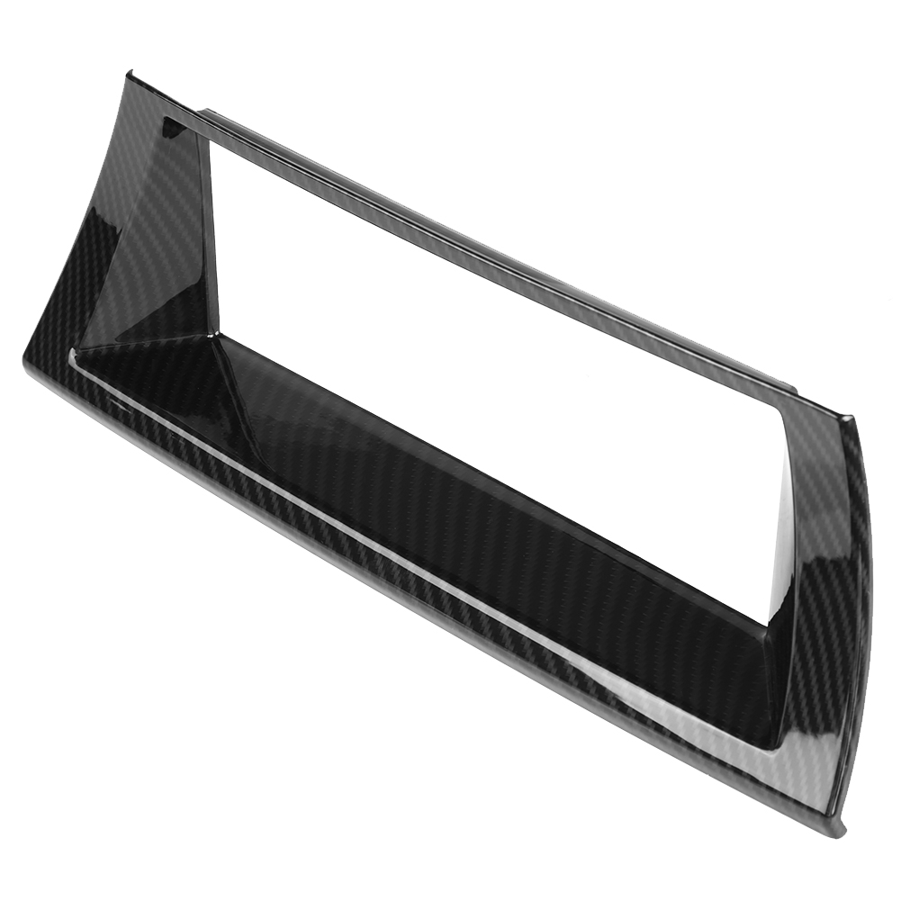 Carbon Fiber Style ABS <font><b>Interior</b></font> Centre Console GPS Navigation Frame Cover <font><b>Trim</b></font> for <font><b>BMW</b></font> X5 <font><b>E70</b></font> 2013 2014 2015 2016 2017 2018 image