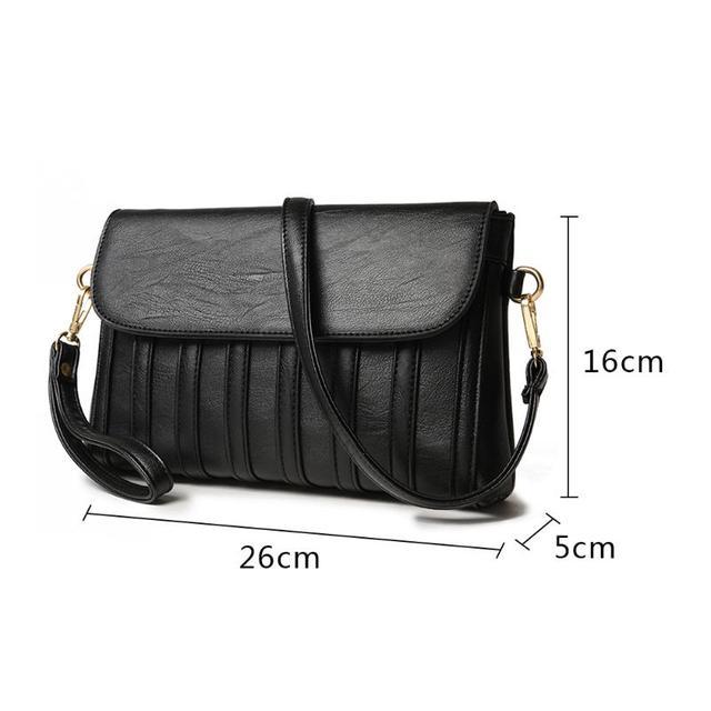 Women Solid Sling Crossbody Handbags PU Leather Ladies Small Shoulder Messenger Bags Female Pure Color Casual Soft PU Handbag 5