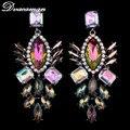 Earings Dvacaman 2016 Nueva Llegada de La Manera Mujeres de la Alta Calidad Rhinestone Multicolor Aretes Largos Accesorios Del Vestido Formal 8867