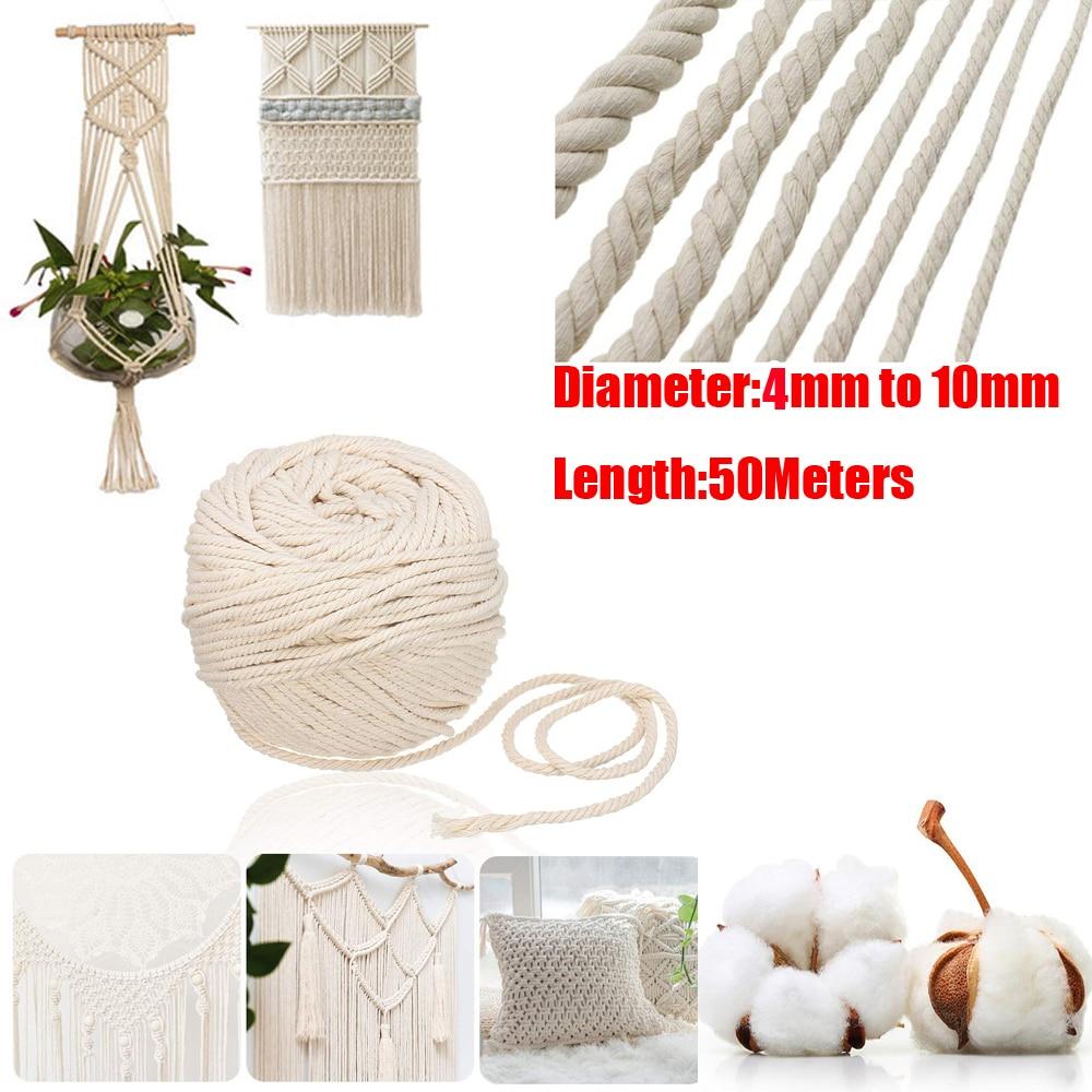 5.5Yard Leather Cord Rope Braided Knit Line Waxed Thread Sewing String Strip DIY
