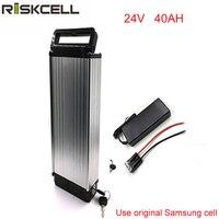 Bateria de lítio elétrica da bicicleta 24v 40ah ebike bateria 24v 40ah com carregador e bms para a pilha de samsung|24v 40ah battery|40ah battery|24v 40ah -