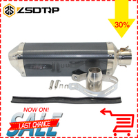 ZSDTRP 35 51mm Colors Mirror Motorcycle Exhaust Pipe Akrapovic Modified Scooter Exhaust Muffler For Z750 FZ6