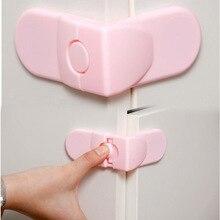 Safety 10 pcs Cabinet Drawer Cupboard Refrigerator Toilet Door Closet Plastic Lock Baby Safety LockCare Child Safety ATRQ0140