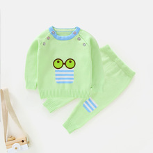 2017 pullover Long Sleeve Cartoon Boys Girls Clothing cotton Baby's Sets N8511-N8592