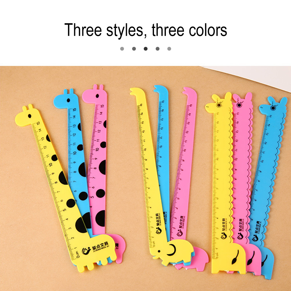 New Arrival 1PCS Kawaii Cute Design Ruler Funny Stationery Plastic Rulers Office Accessories School Escolar Kids Study Supplies(China)