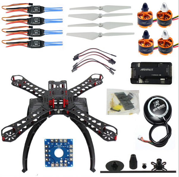 DIY RC Drone Quadrocopter X4M380L Frame Kit APM 2.8 Flight Control GPS F14893-K 36cm resin a380 great british airplane model england airlines airways model plane aircraft stand craft british a380 airbus model