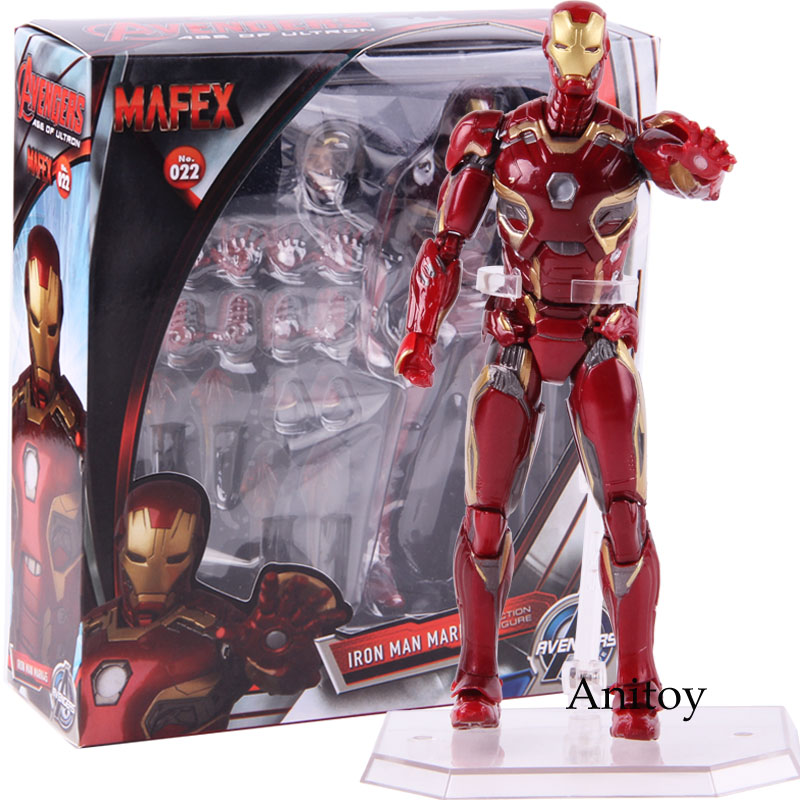 Mafex No. 022 Marvel Avengers Iron Man Mark 45 Ironman Action Figure PVC Collectible Model ToyMafex No. 022 Marvel Avengers Iron Man Mark 45 Ironman Action Figure PVC Collectible Model Toy