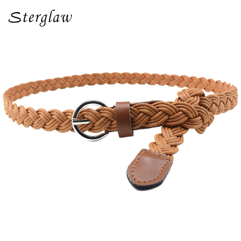 Personalized Hand-woven Fashion Ladies Elegant Candy Color Hemp Rope Woven Belt Female Casual Delicate Belt Dress Decoration Apparel Accessories