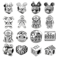 Wholesale 100 Pieces ,Boy Girl Minnie and Mickey Mouse Bead Fit Pandora Beads Charm Bracelet For Women Jewelry Making SPB177