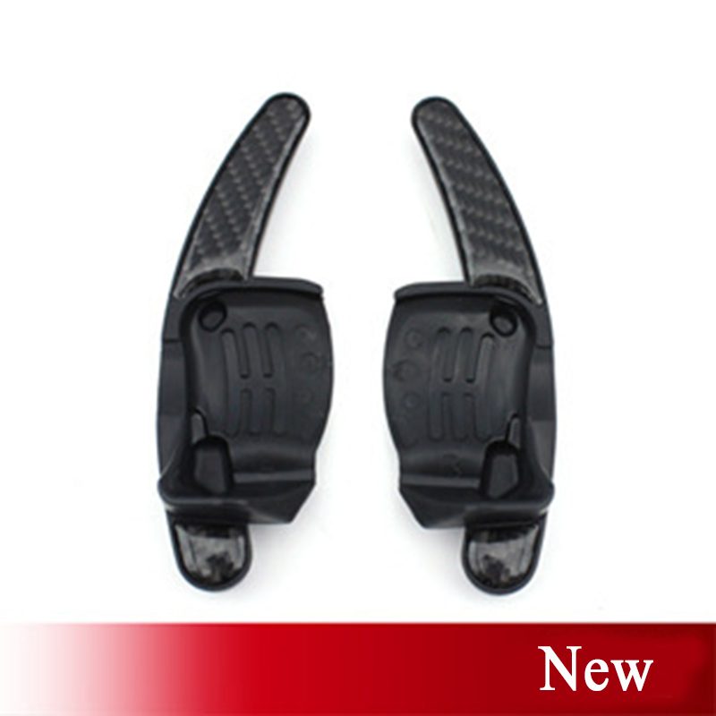 Brand New 2X Car Styling Carbon Fiber Steering Wheel Shift Paddles DSG Shifter Extension ForVWGolf GTI R36 Scirocco