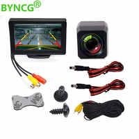 Moniteur de stationnement Voiture Auto Moniteur LED Vision nocturne Voiture CCD caméra de recul avec 4.3 pouces Voiture vidéo pliable Moniteur caméra
