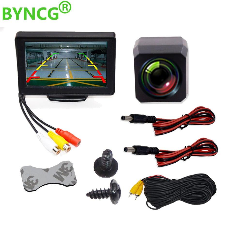 Parkplatz Moniteur Voiture Auto Monitor LED Nachtsicht Auto CCD Rückansicht Kamera Mit 4,3 inch Auto Video Faltbare Monitor kamera