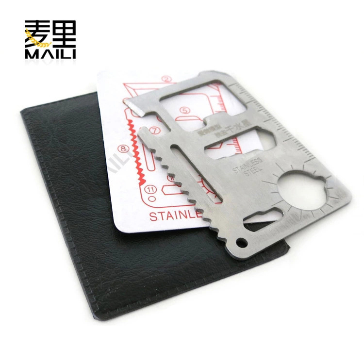 Stainless steel multi-purpose military knife card Swiss Army knife card universal life-saving card outdoor camping tool card kni