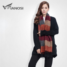 VIANOSI Fashion Brand Winter Scarf Women Designer Pashmina Shawls and Scarves Soft Foulard Bufandas VS063