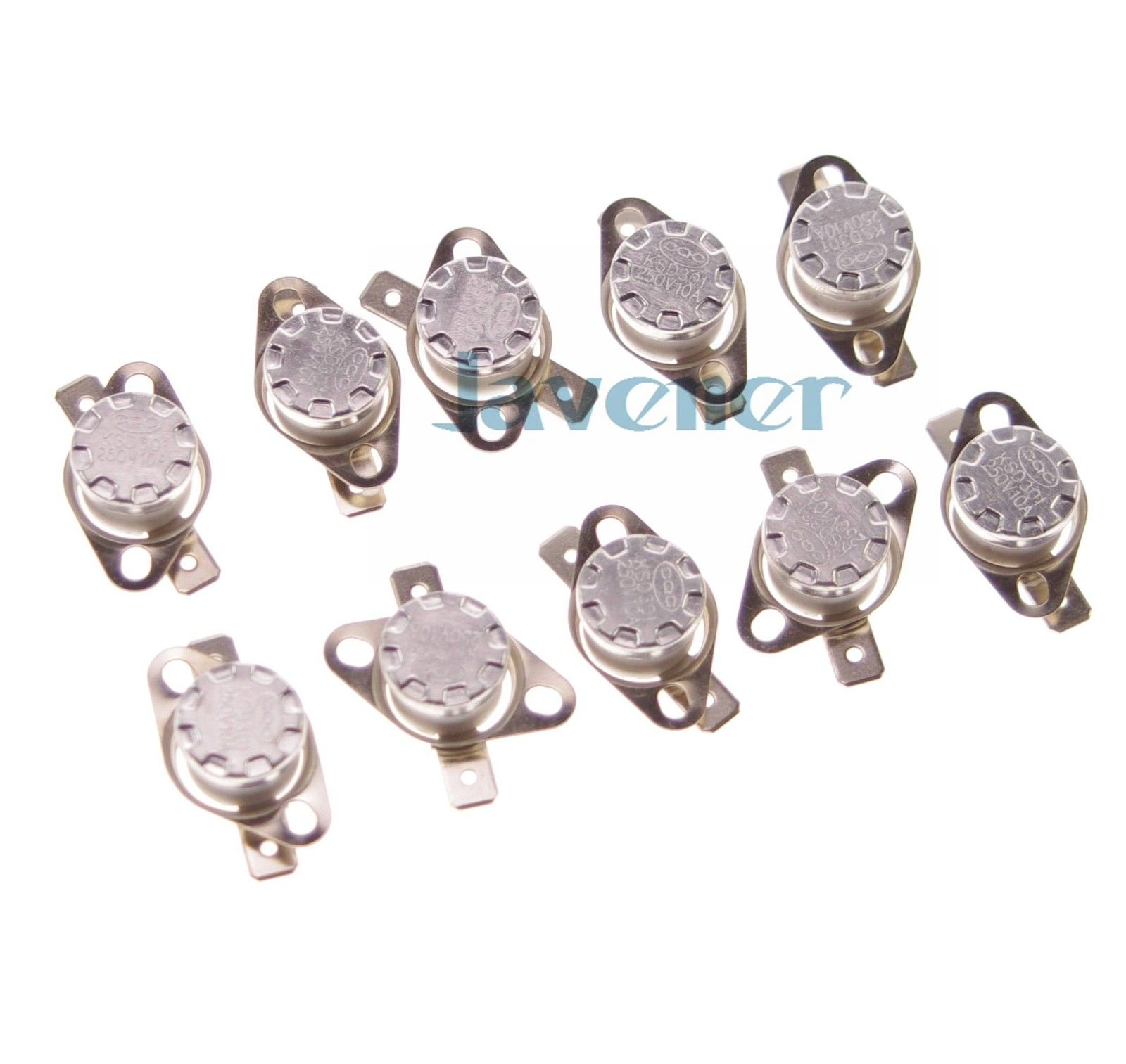 цена на 10PCS 120 to 160 Degree C 10A 250V NC Normal Closed Temperature Switch Thermostat Controllor KSD301