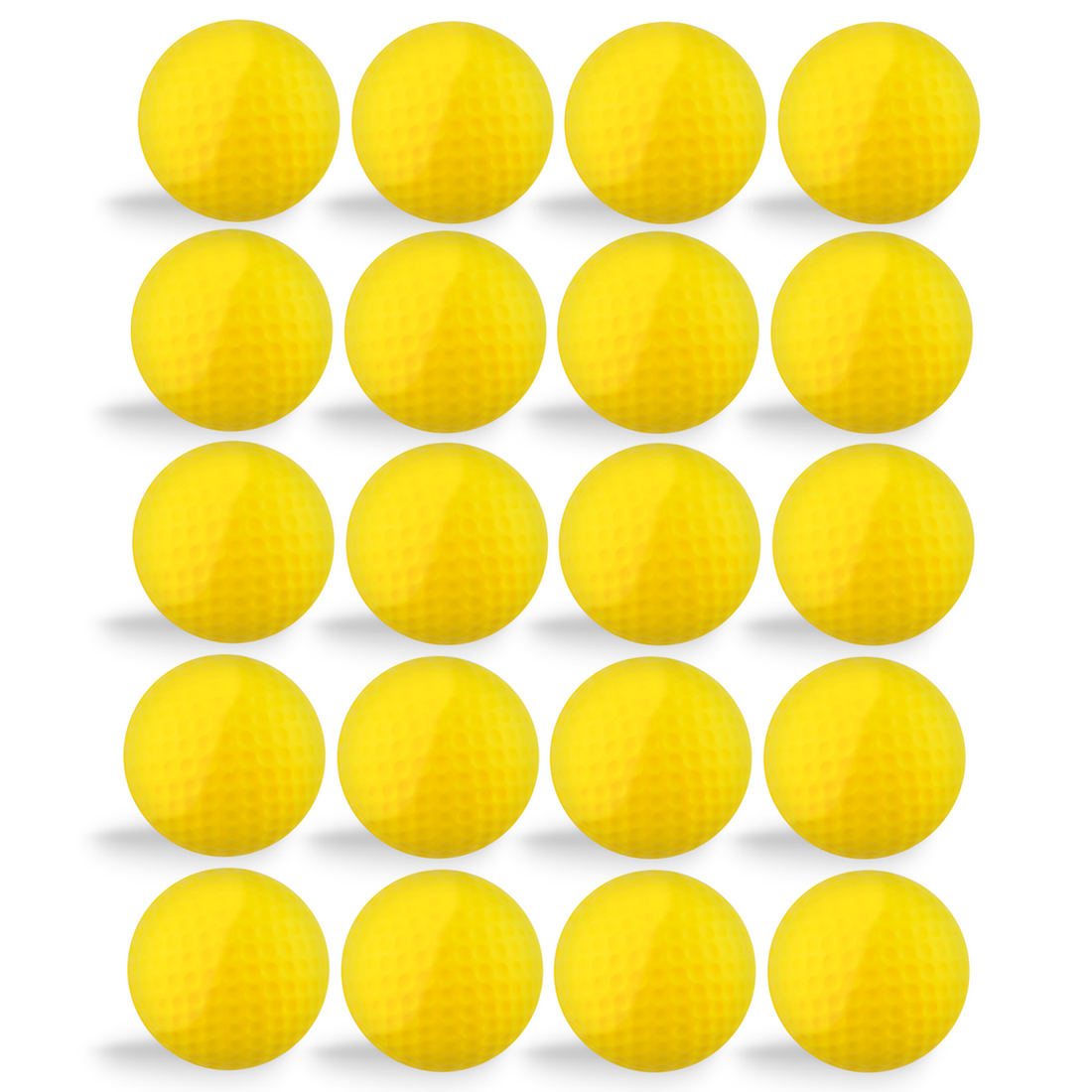 20pcs PU Foam Sponge Golf Practice Balls Indoor Practice Training Balls Golf Training Aids