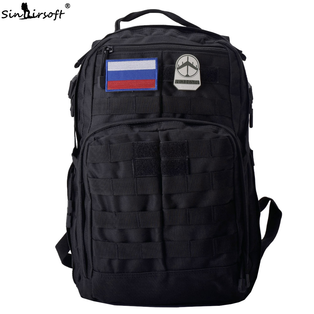 SINAIRSOFT Military Tactical backpack 30L Rucksack 14 Inches Laptop Travel Bags Fishing Camping Waterproof Unisex BS208 sinairsoft military tactical backpack 35l rucksack 14 inches laptop fishing molle system backpack trekking bag gear ly0020