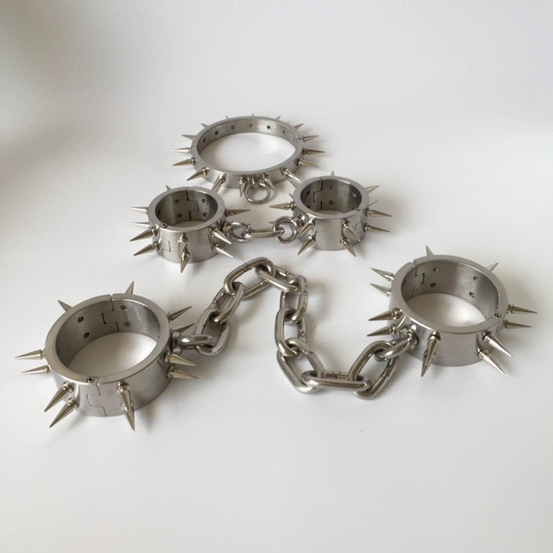 Steel bdsm collar heavy