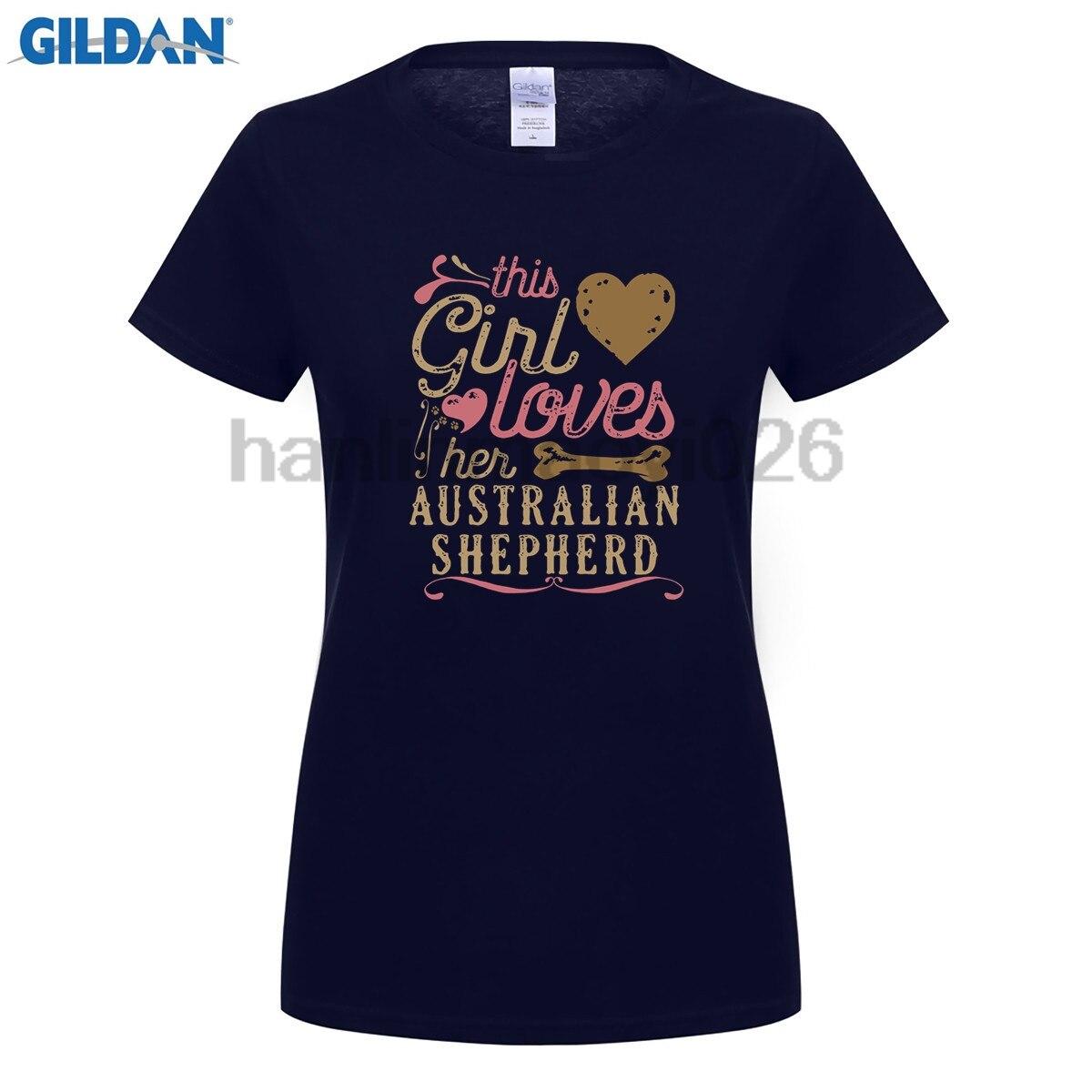 GILDAN Australian Shepherd Shirt This Girl Loves Her Australian Sh for women