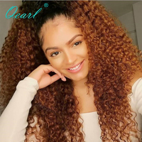 Qearl 200% Thick Heavy Density 360 Lace Frontal Wig with Baby Hairs Brazilian Remy Hair Full Enough Ponytail Lace Wigs