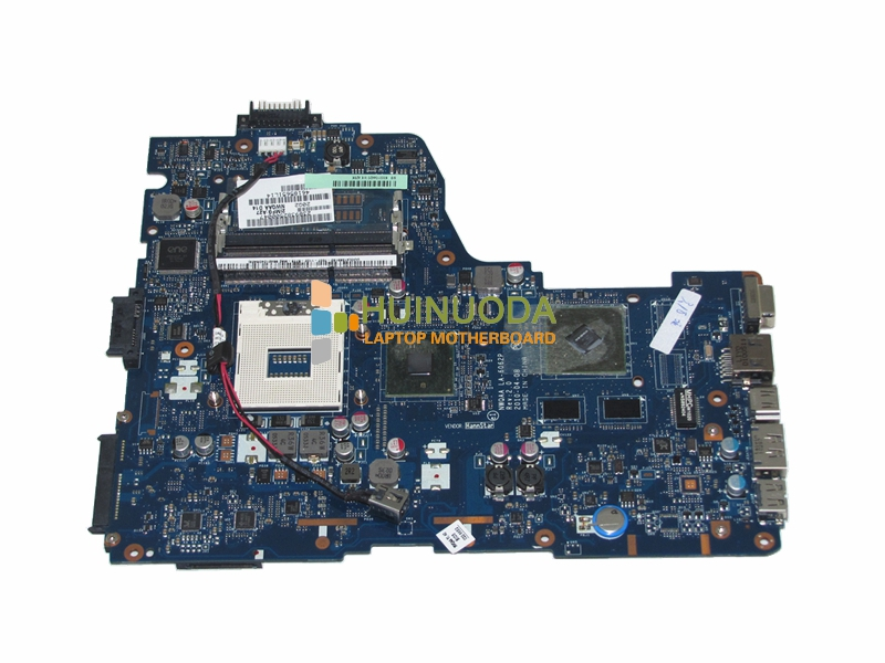 NOKOTION laptop motherboard for Toshiba Satellite A660 A665 NWQAA LA-6062P K000109880 HM55 rPGA988A DDR3 GT330M 1GB Tested v000138700 motherboard for toshiba satellite l300 l305 6050a2264901 tested good