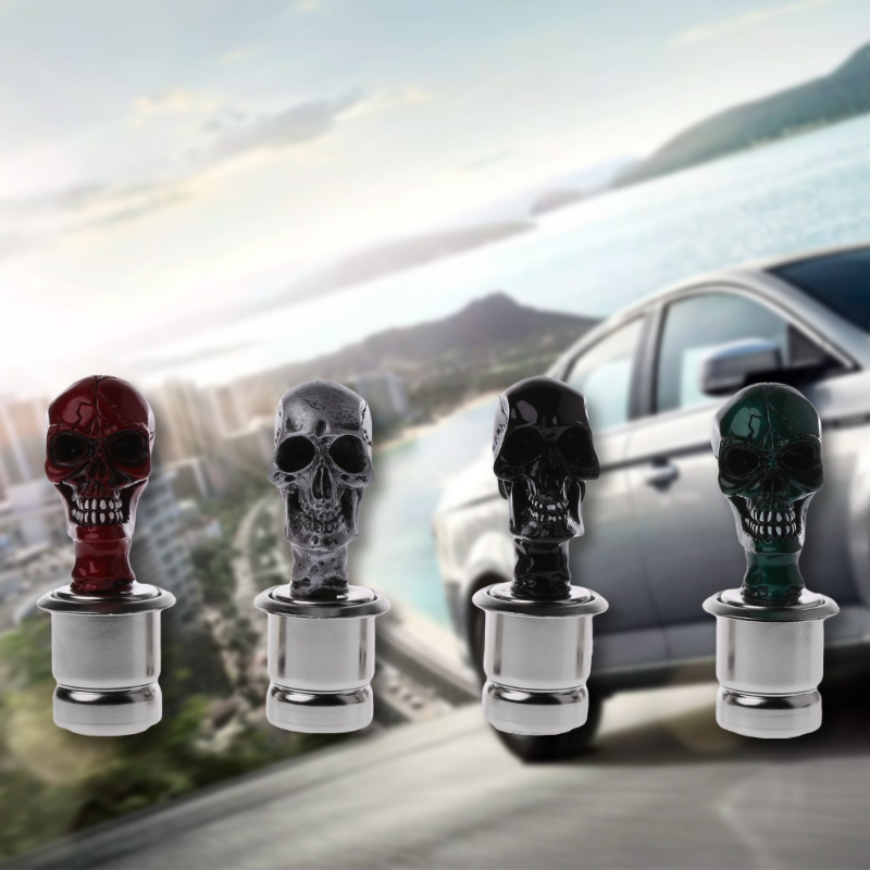 New Arrival Car Cigarette Lighter Socket Plug Connector Skull Heads Crossbones Auto Vehicles