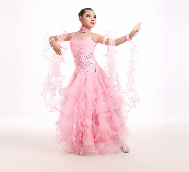 Новинка 2017 года; платье для бальных танцев стандарт бального танца юбки Ладен Vestido De formatura вальс танец платье