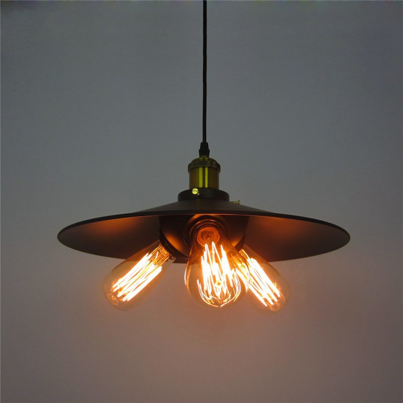 цена на Retro Iron 3 head Pendant Lights Loft Vintage Lamp E27 Pendant Lamp Hanging Light Fixture for Restaurant Bedroom Living Room