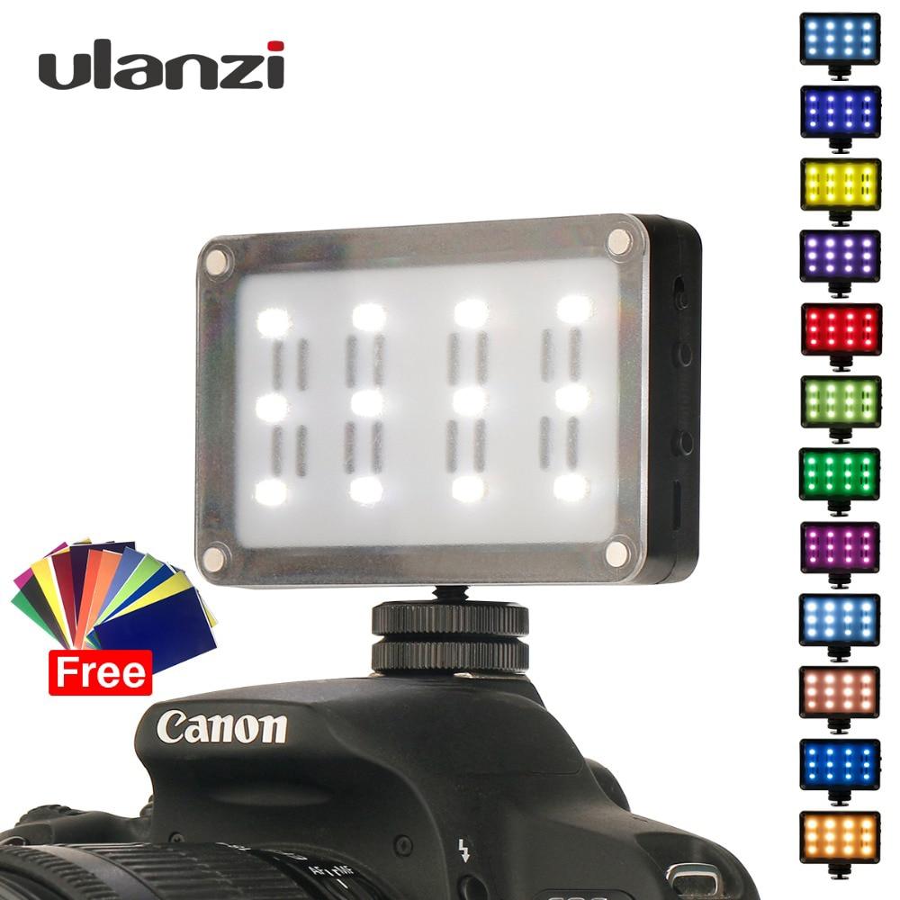 CardLite Mini Portable Video Camera LED Light For DSLR Canon Nikon With Filter 12 Color Gel  Dimmable Led Fotografia Lighting