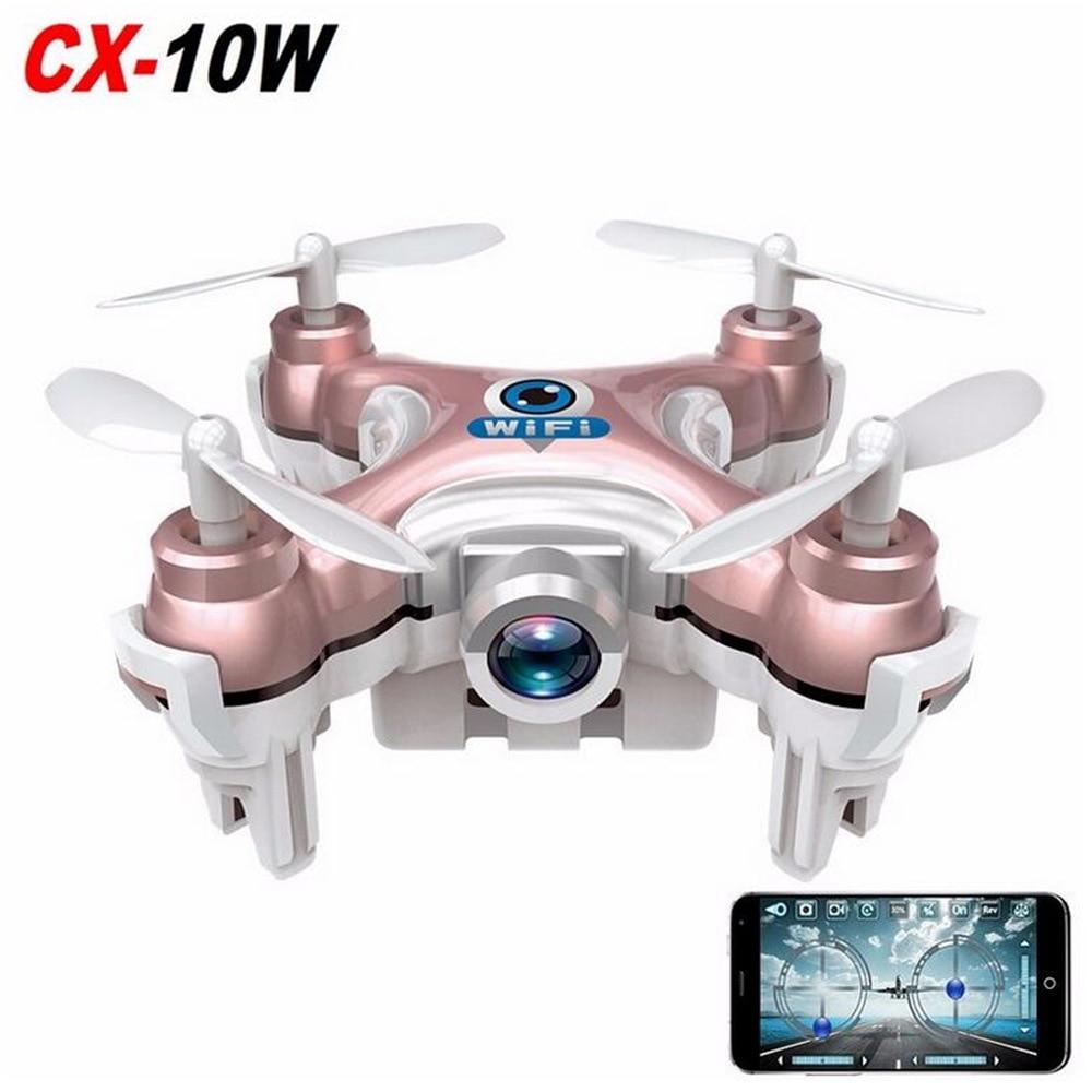 Cheerson RC Quadcopter CX-10W CX10W Wifi FPV 0.3MP Camera LED 3D Flip 4CH CX10 Update Version Mini Drone BNF Helicopter Toy Gift