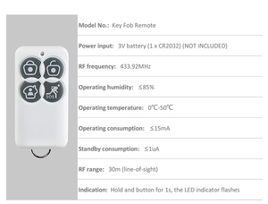Image 4 - מקורי Broadlink S1C/ S1/ S2 מפתח Fob מרחוק שליטה להפעיל בחר חיישני עבור S1 S1C SmartONE בית מעורר SOS אבטחת מכשיר