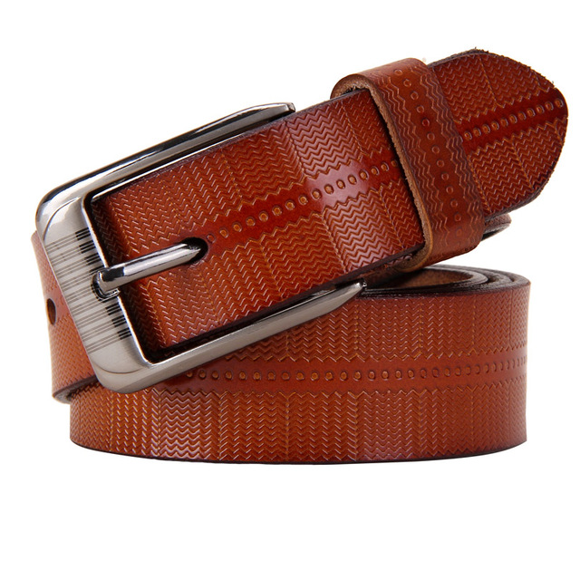 Women's Genuine Leather Wave Textured Belt