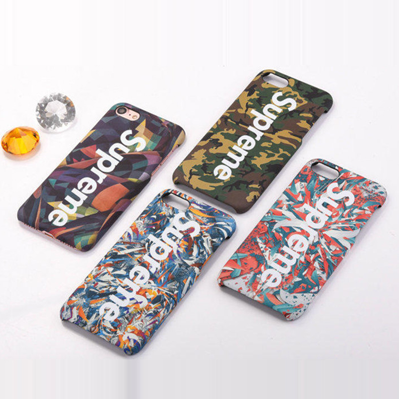 Luminous Brand Letter Word Hard Phone Cases For iphone 7 7plus 6 6s plus 5s Ultra Thin Camouflage Back Cover Funda Capa
