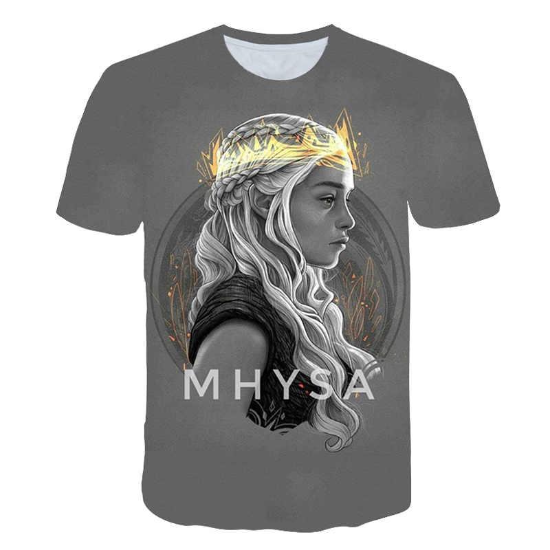 2019 De Nieuwe t shirts Zomer mannen 3D print game of thrones t-shirt mode hoge merk Tshirt mannen game of thrones tshirt