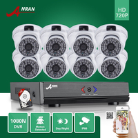 ANRAN Plug Play HD 1080N 8CH AHD DVR HDMI Video Outdoor Waterproof 48 IR Home Security