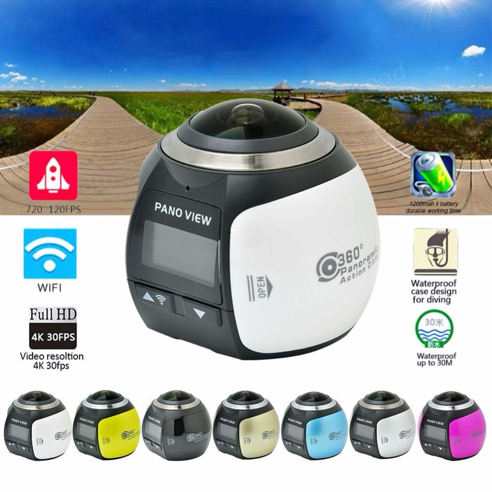 4K 360D Action Video Camera Wifi Mini HD 2448P 16MP Sports DV Action Camera Video Waterproof Driving Cam