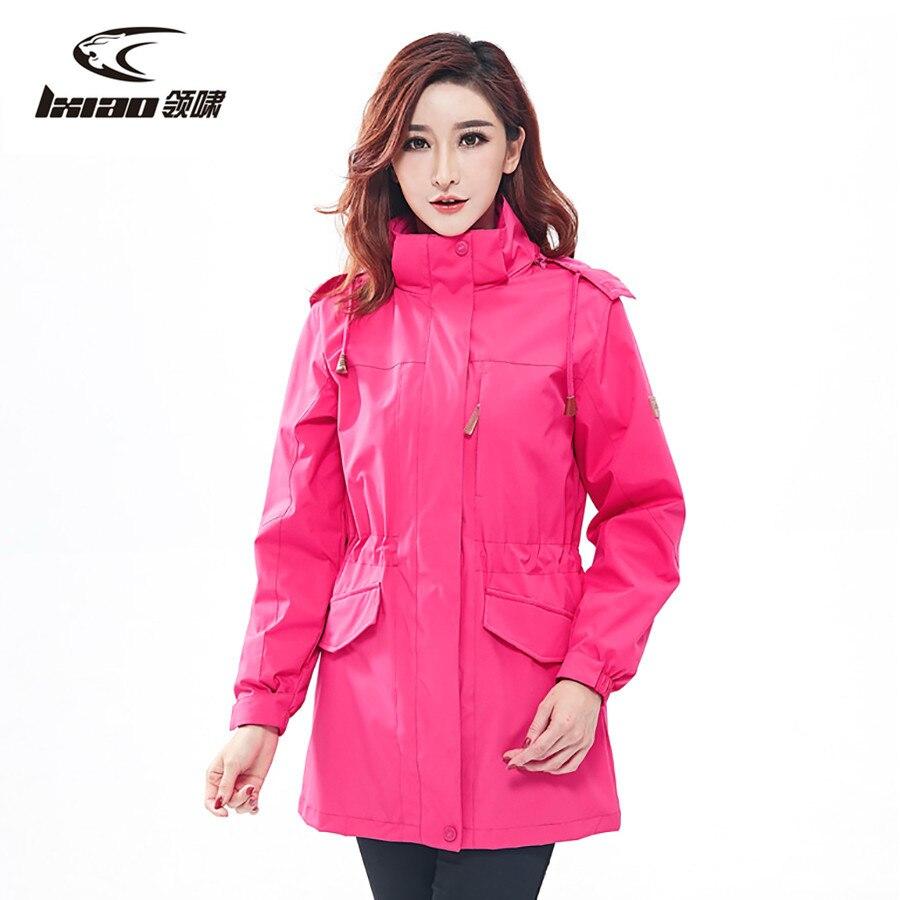 LXIAO hiver veste femmes imperméable veste femmes doublure amovible Softshell polaire veste femme ski veste femmes manteau