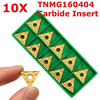 10pcs Set New TNMG160404 CNC Carbide Inserts Blades For Lathe Turning Boring Tool