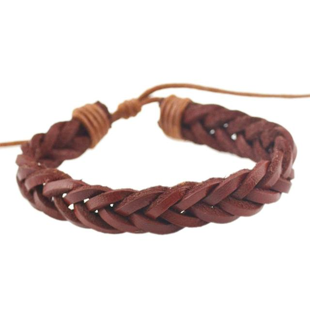 Braided Twist Handmade Leather Bracelets (3 Colors)