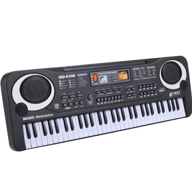 Nuevos 61 Teclas Regalo de Música para Teclado Electrónico Teclado de Piano Eléctrico Digital de Regalo FIJARON D12021